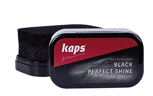 Kaps Esponja Abrillantadora de Calzado para Un Brillo Instantáneo, para Zapatos, Botas y Bolsos de Cuero, Perfect Shine, (Negro)