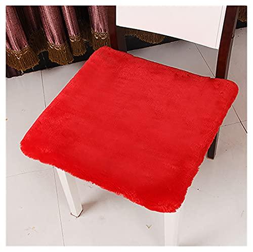 GERYUXA Coussin De ChaiseCoussin Chaise Confortable, Coussin De Chaise D'Intérieurpour Banc De Terrasse/Balcon/Banquette/Galette De Chaise(Size:45x45cm,Color:Rouge)
