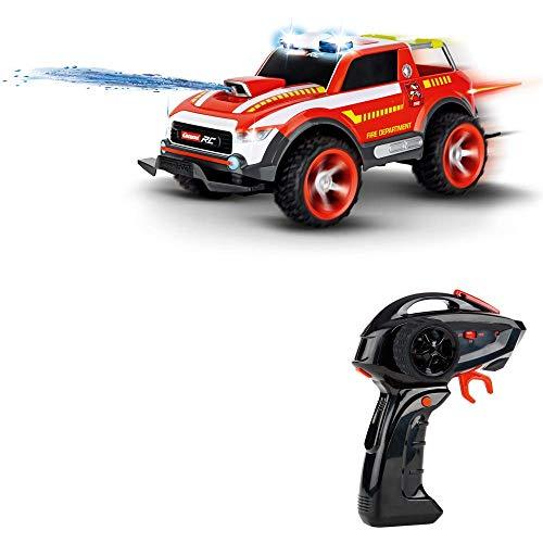 Carrera RC Fire Fighter Watergun – Fernsteuerbares Einsatzfahrzeug mit Blaulicht, Sirene und Löschfunktion – Rennauto mit bis zu 18 km/h Geschwindigkeit