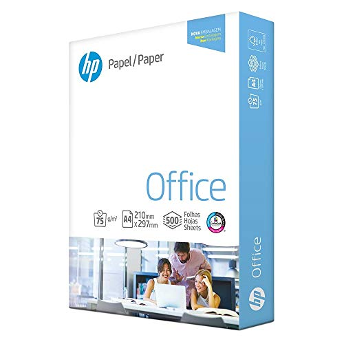 Papel Sulfite A4 75 g, International Paper, HP Office, HCO075CA4, 500 Folhas, Branco
