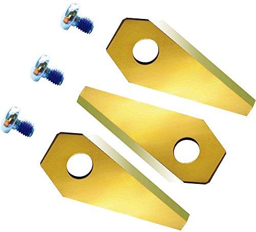 TITAN 12 Ersatzmesser extrahart für Bosch Indego Titan-Karbid beschichtet 2-seitig - wendbar, passend für alle Indego - 800, 1000 1200, 350, 400 und 450, einschl. Connect