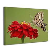 Skydoor J パネル ポスターフレーム 花と蝶 インテリア アートフレーム 額 モダン 壁掛けポスタ アート 壁アート 壁掛け絵画 装飾画 かべ飾り 30×40