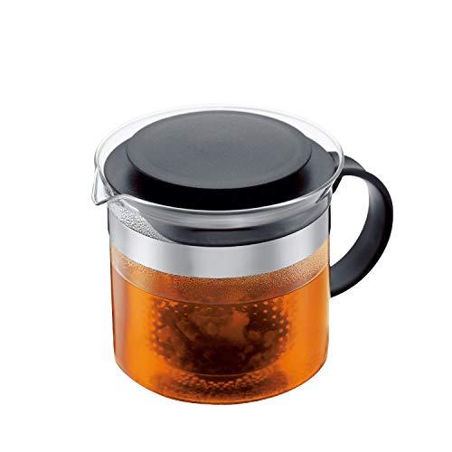 Bodum Teebereiter bistroNouveau (Kunststoff Teesieb, Hitzebeständiges Glas, 1,0 liters) schwarz