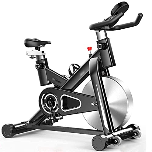 YXYY Bicicleta estática para Interiores, Bicicleta estática con Control magnético con Pantalla LCD Pedal de Seguridad Antideslizante de Resistencia infinitamente Ajustable Ideal para Ejercicios e