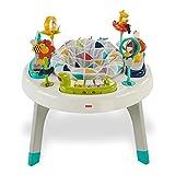 Fisher-Price Mon premier siège d'activités bébé safari 2-en-1, transformable en table de jeux avec jouets et sons, FVD25