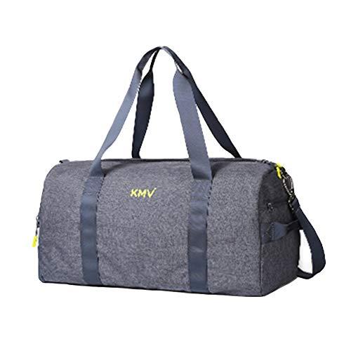 Sac De Voyage Et Sport avec Compartiment À Chaussures Séparé,Duffel Holdall Travel Weekender Bag FENGMING (Color : Blue-Gray, Size : Small)