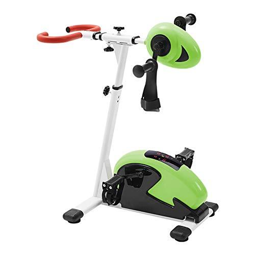 DXFK.AM Ejercitador De Pedal Electrónico Terapia Física Rehabilitación Estacionario Fitness Bike, Brazo Y Pierna Ejercitador Máquina para Discapacitado Fisioterapia Bicicleta De Ejercicio,A