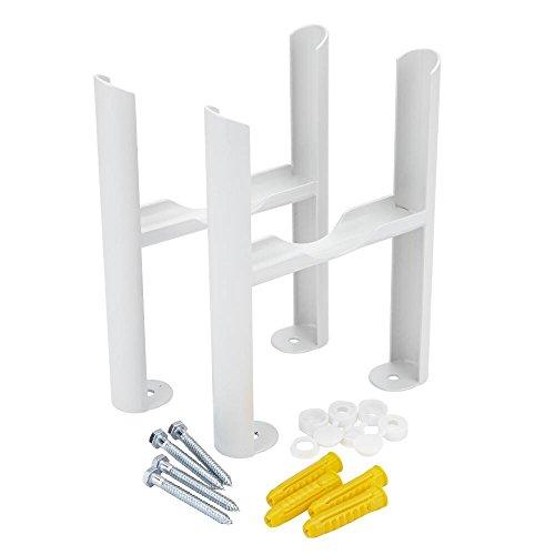 Hudson Reed - Lot De 2 Pieds Pour Radiateur Windsor Acier Blanc 22,5 x 13 x 8cm