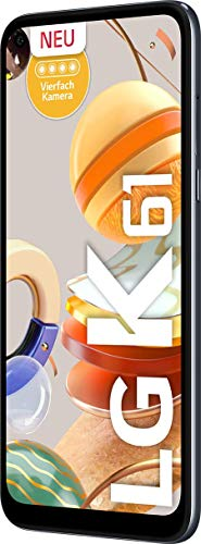 LG K61 Smartphone 128 GB (16,59 cm (6,53 Zoll) FHD+ Display, Premium 4-Fach-Kamera, MIL-STD-810G, DTS:X 3D Surround Sound) Titan