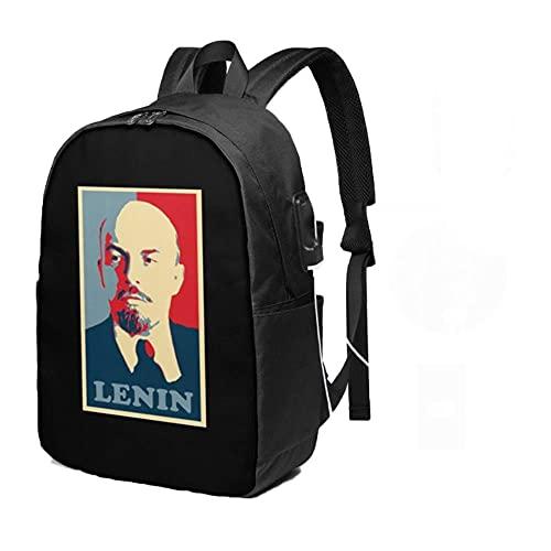 ULPUXMM Lenin Mujeres Hombres Niños Mochilas de lujo para viajes escolares de viaje 18 pulgadas. B