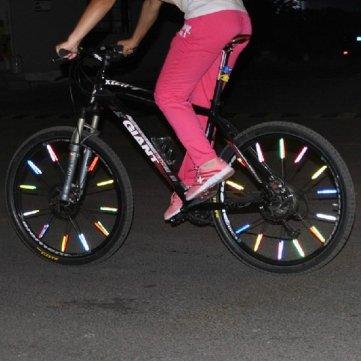 Hohe Qualität 12 PCS -Fahrrad- Rad-Speiche- Reflektor-reflektierende RohrmontageClip - Blue