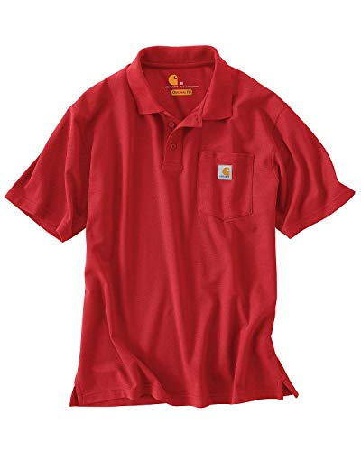 Carhartt Contractor'S Work Pocket Polo Shirt, Red, XL para