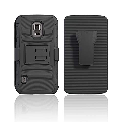 Cocomii Striped Belt Clip Holster Galaxy S5 Active Case, Slim Thin Matte Kickstand Swivel Belt Clip Holster Reinforced Drop Protection Fashion Bumper Cover for Samsung Galaxy S5 Active (Black)
