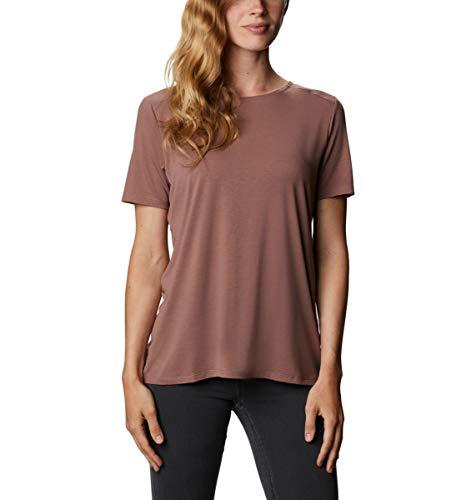 Columbia Damen Essential Elements Short Sleeve Shirt Wanderhemd, Mokka, 2X