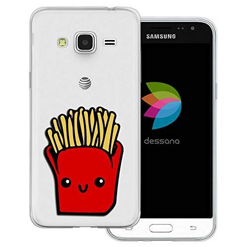 dessana Comic Food - Cover trasparente per Samsung Galaxy J3 (2016) patatine fritte
