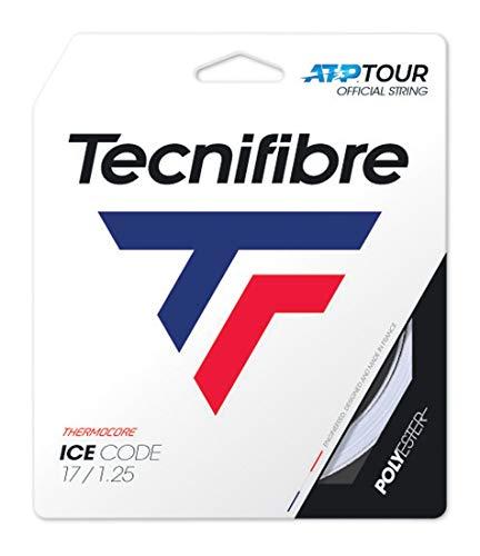 Tecnifibre Ice Code Saitenset 12m-Weiß Tennissaite, 1.25