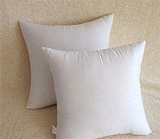 Restar Lot de 2 coussins rembourrés en coton mélangé – Fibre vierge (45 x 45 cm)
