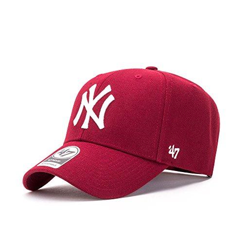 '47 Berretto da Baseball Unisex MLB New York Yankees MVP Rosso Cardinale Taglia Unica