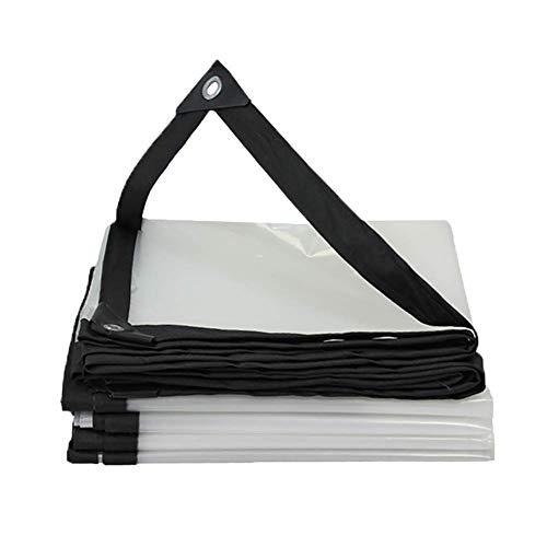 HCYTPL Lichtgewicht waterdicht dekzeil transparante isolatiefolie voor luifels, met metalen ogen voor kas, 3 x 5 m