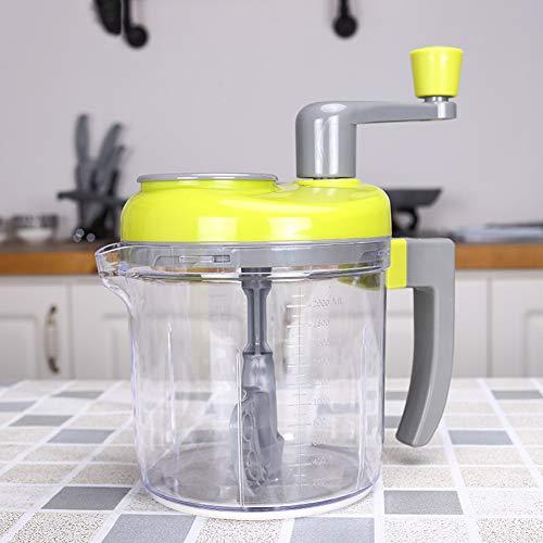 Großer Salatschleuder aus Edelstahl – Salattrockner, schnell trocknend, rutschfester Boden, spülmaschinenfeste Schüssel mit Sieb und Hebel