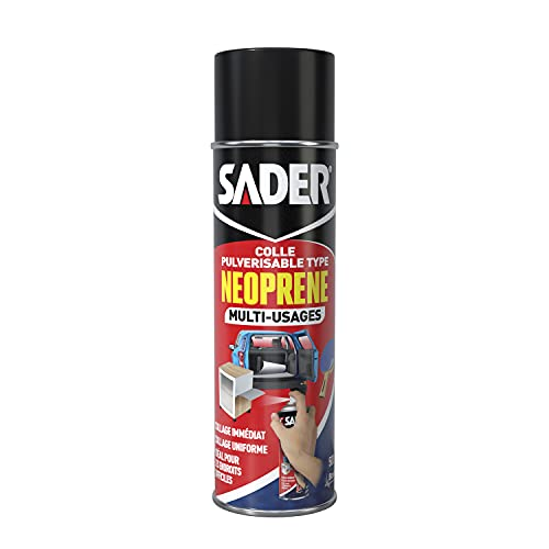 Sader Colle Néoprène Multi-Usages en Aérosol, Opaque, 500 ml