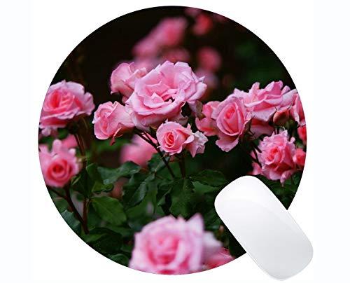 Yanteng Estera del ratón del Juego, Flor de Rose Rose del arbusto de la Naturaleza - Bordes cosidos