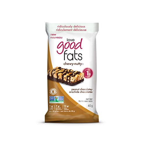 Love Good Fats Chewy Nutty Peanut Chocolatey Bars, Count-12, 480 g