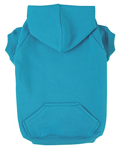 Zack & Zoey Basic Hoodie for Dogs, 16' Medium, Bluebird