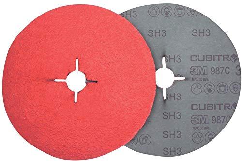 3M 68053000 Disco abrasivo Fibra 987C P036, 125 mm