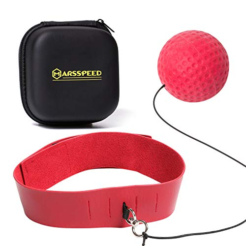 TaoLeLe Marsspeed Boxing Reflex Ball Set Profession Boxing Reaction Training Ball with Adjustable Headband for Men/Women Boxing Gym Equipment for Fight Skill and Hand Eye Coordination Training