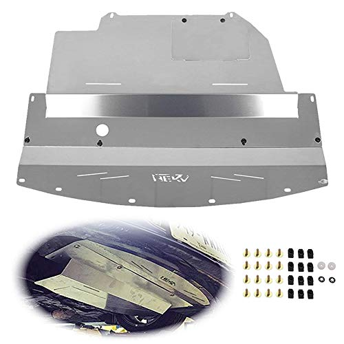 ELITEWILL Silver Aluminum Front Lower Engine Splash Shield Guard Under Tray Cover Skid Plate Fit for 2003-2009 Nissan 350Z & 2003-2006 Infiniti G35 and 03-07 G35 Coupe