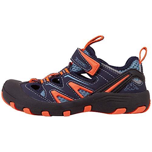 Kappa Unisex-Kinder Reminder Kids Sneaker, Blau (Navy/Orange 6744), 34 EU