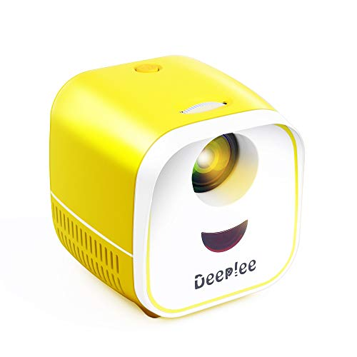 Deeplee Mini Projector Portable Projector for Kids LED LCD Video Projector for Home Theater, Compatible with TV Stick USB/AV/TF/HDMI, Ideal for Home Entertainment