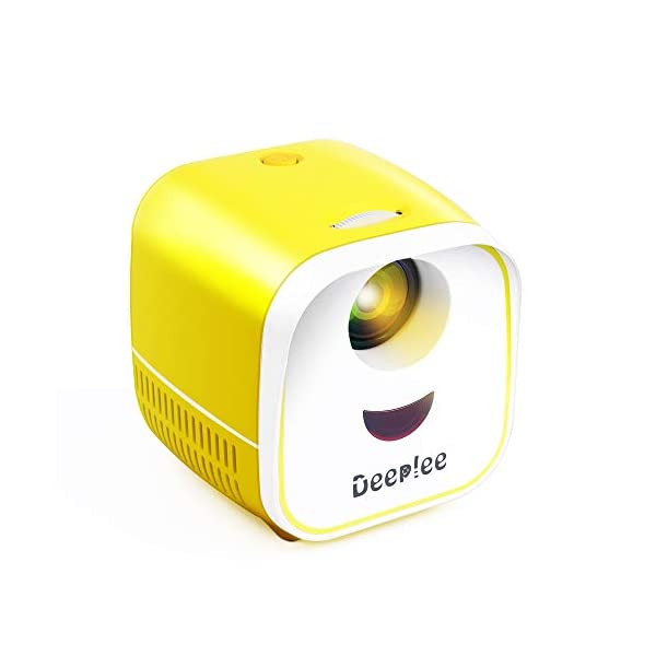 Mini Projector, DeepLee Portable Projector for Kids LED Video Projectors for Home...