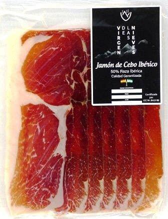 PACK DE 6 SOBRES DE JAMON DE CEBO IBERICO 50% RAZA IBERICA 360g
