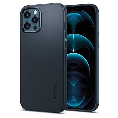Spigen Thin Fit Designed for iPhone 12 Pro Max Case (2020) - Metal Slate