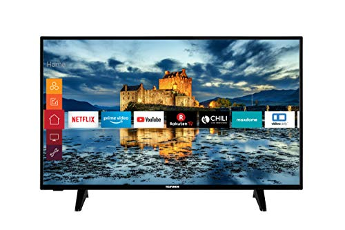 Telefunken XF43J511 43 Zoll Fernseher (Smart TV, Prime Video / Netflix / YouTube, Full HD, Works with Alexa, Triple-Tuner) [Modelljahr 2021]