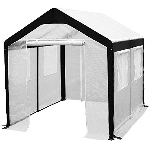 Abba Patio 8 x 10-Feet Large Walk in Fully Enclosed Lawn and Garden Greenhouse with...