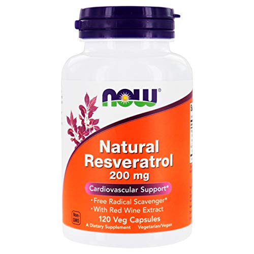 Natural Resveratrol 200mg (120 VCaps) Now Foods