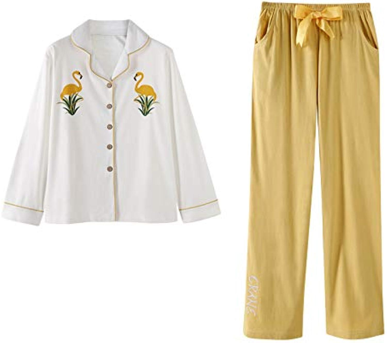 GAESHOW Women's Pjs Set Long Sleeve Pajamas Set ButtonDown Sleepwear Cotton Two Piece Pj Sets