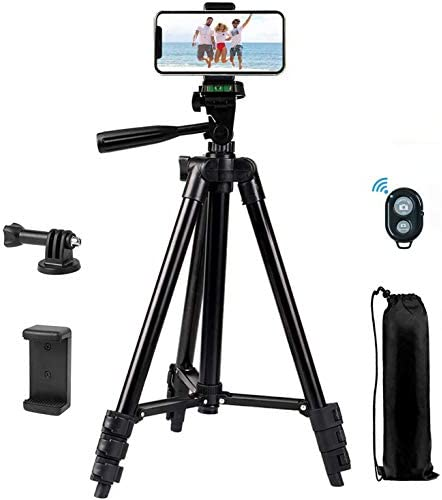 Mobile Phone Tripod 40 inch Tripod for iPhone Mobile Phone Tripod with Mobile Phone Holder and product image