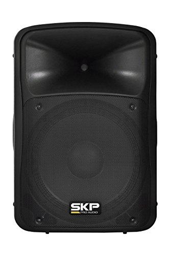 "SKP PRO AUDIO SK-5P BT BK Professional Bluetooth Powered Loudspeaker, 15"", 1000W MAX, 2 Way, USB SD Port Black"