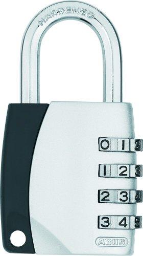 ABUS Zahlenschloss 155/40 - Vorhängeschloss mit Zinkdruckguss-Gehäuse - mit individuell einstellbarem Zahlencode - 29052 - Level 4 - Silber