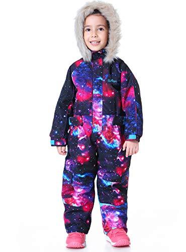 Bluemagic Little Kid's One Piece Overall Snowsuits Ski Suits Jackets Coats Jumpsuits,Star,120cm
