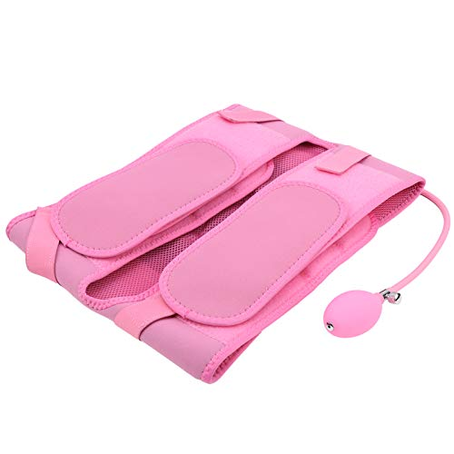 YOUTHINK Pelvic Correction Belt Double Diamond Shape Postpartum Recovery Band Hip Support Bellyband Posture Corrector Belly Support Recovery Belt(Inflatable Pink) (pink)