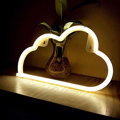Wolke Leuchtreklamen LED Neonlichter Kunst Wanddekoration Lichter Neonlichter für Weihnachten Zimmer Wand Kinder Schlafzimmer Geburtstagsfeier Bar Dekor