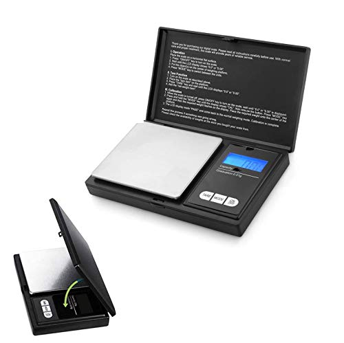 New Horrizon Digitalwaage, Küchenwaage, Taschenwaage 0,1g x 500g, Lebensmittelwaage, mit LCD-Display, Schmuckwaage, Waage