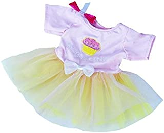 """Birthday Girl Dress Outfit s Most 8""""-10"""" Webkinz, Shining Star and 8""""-10"""" Make Your Own Stuffed Animals and Build-A-Bear b..."""