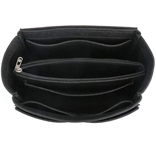 HyFanStr Bag in bag Organizer borsa Donna organizzatore valigia interno organizzatore cosmetici borsa, Nero L