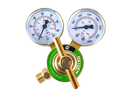SÜA - Oxygen Regulator Welding Gas Gauges - CGA-540 - Rear Connector - LDB series